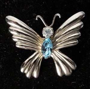 Vintage coro butterfly brooch